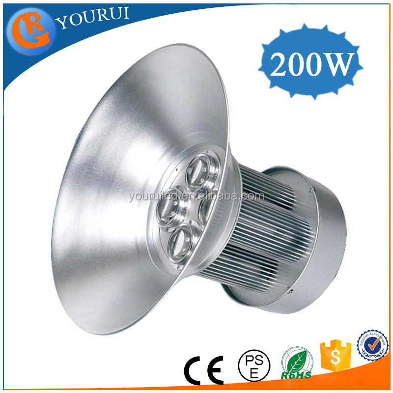IP65 Indoor Pure White COB 200w led induction high bay light