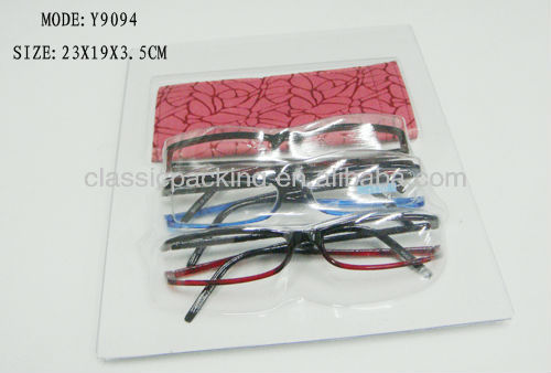 new style blister packing for reading glasses case