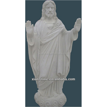 jesus christ white carved life size marble statue