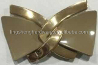 NEW product Metal buckle LS up gold down epoxy for shoes or accessories for bags