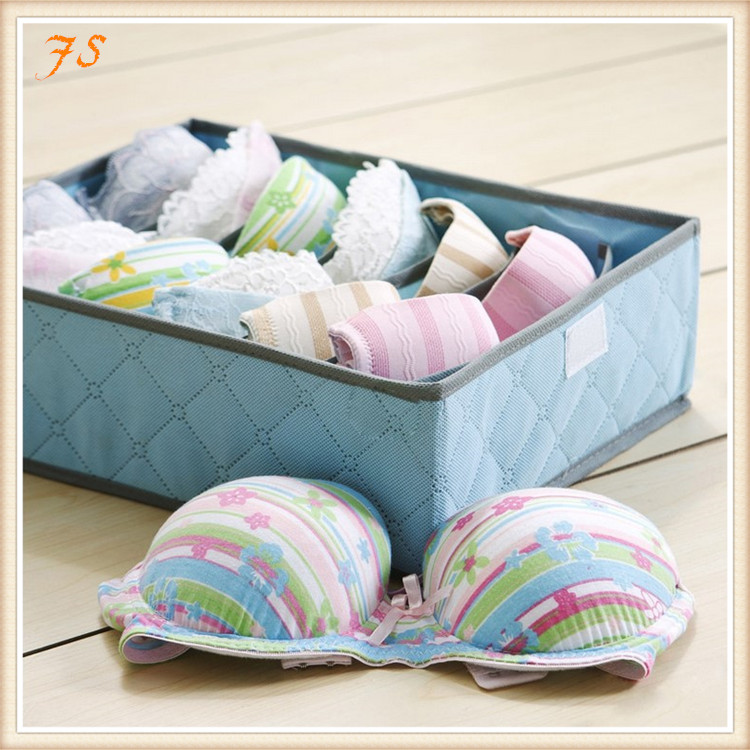 Folding Charcoal Non-woven Paperboard Underwear Briefs Socks Storage Boxes Box Storage Organize