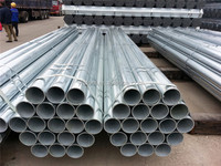 SCH 40 Hot dipped galvanized steel pipes