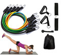 11pcs Resistance Band Set with Door Anchor-Premium Quality Heavy Duty Fitness Bands