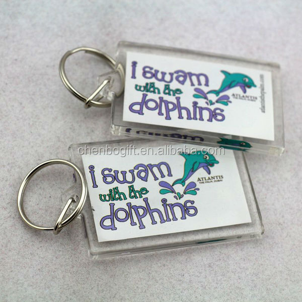 Eco-friendly and cheap price guangzhou factory custom made crystal acrylic keychain with photo