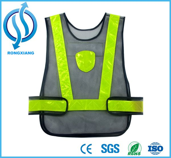 Customizable Security of Grid High Visibility Reflective Vests for Police Uniform