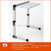 Business Opportunity Wholesale White Furniture Foldable Metal Table for Computer in Bed