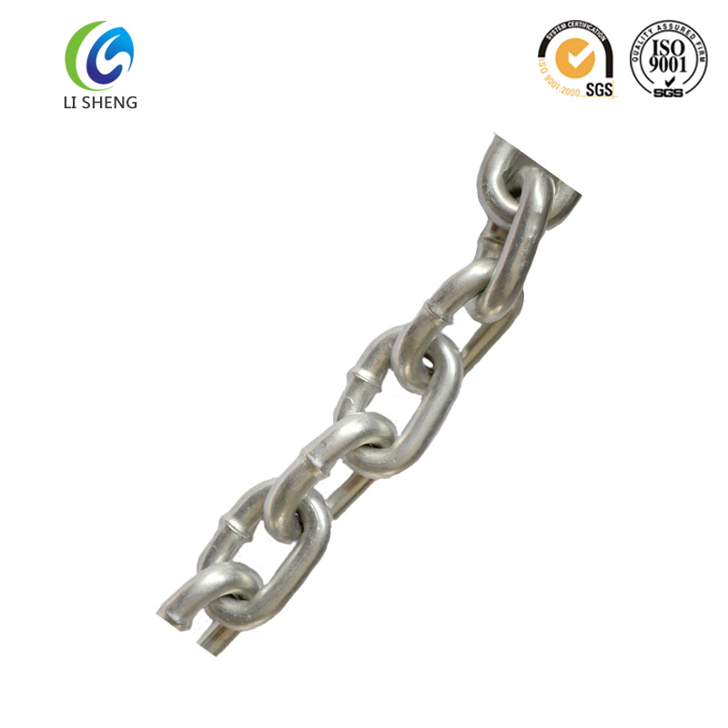Galvanized steel chain link and link chain