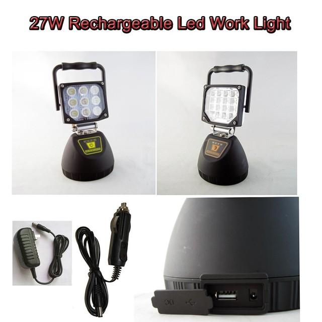 super bright led rechargeable work light 12v led work light with magnetic base