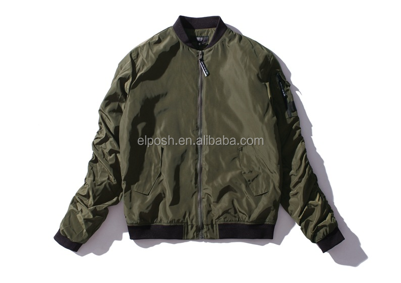 Wholesale Men Quilted Bomber Winter Jacket