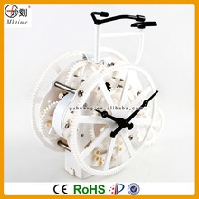 Christmas Promotion Gift Item Creative Bicycle Shape wholesale ABS gear clock gear table clock
