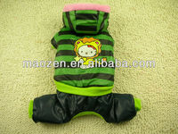 Lovable Stripe Waterproof Winter Dog Coats Pet Clothes