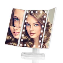 Makeup Mirror 21 LED Lighted Vanity Mirror with Touch Screen and 10X Magnifying Spot Mirror