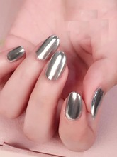 Hot seller Metal Manix silver & gold Chrome nails powder;PGP-16# blue mirror effect glitter dust