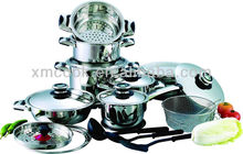25pcs stainless steel cookware set stainless steel pot stainless pots and pans(XM-4015C)