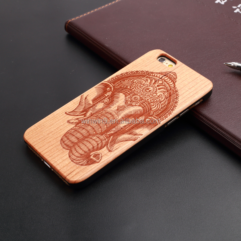 2015 Stylish wooden fashion design laser engraving smart phone case wood factory price for iphone 5c pattern case