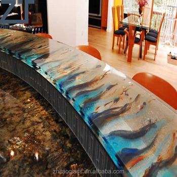Hotel Labradorite Glass Polymer Florid Countertop