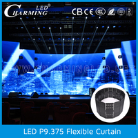 China supplier led curtain display screen transparent stage background