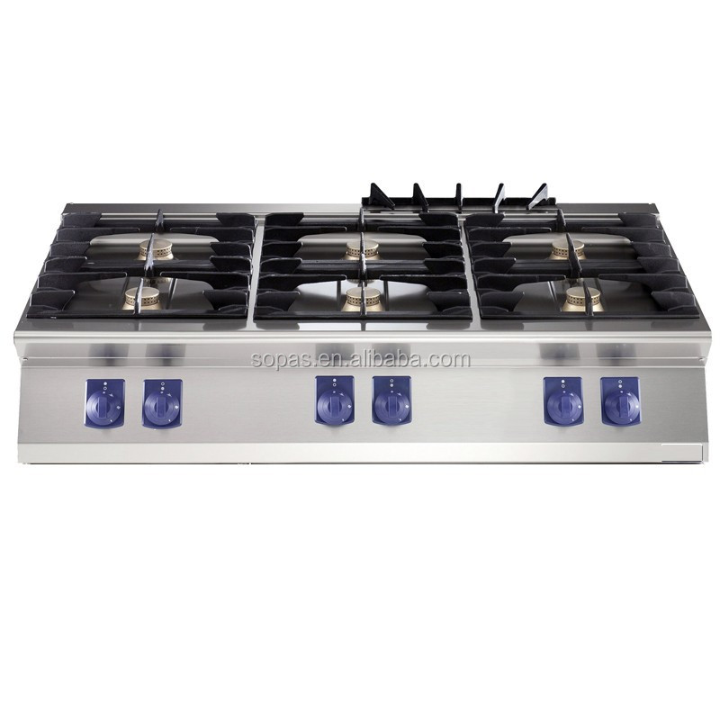 sopas new condition modular cooking range 6 burner table top gas cooker for hotel