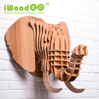 Nature style Wooden Elephant decoration pieces making