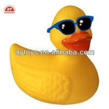 Plastic vinyl yellow duck with sunglasses