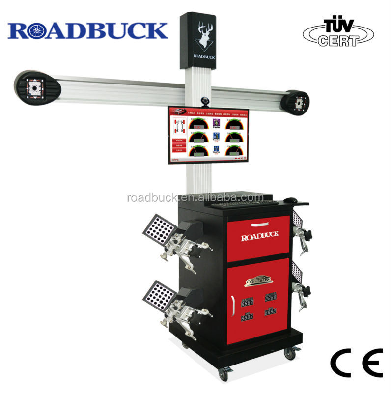 "32"" LCD, 4 small high precision target 3d wheel aligner machine"