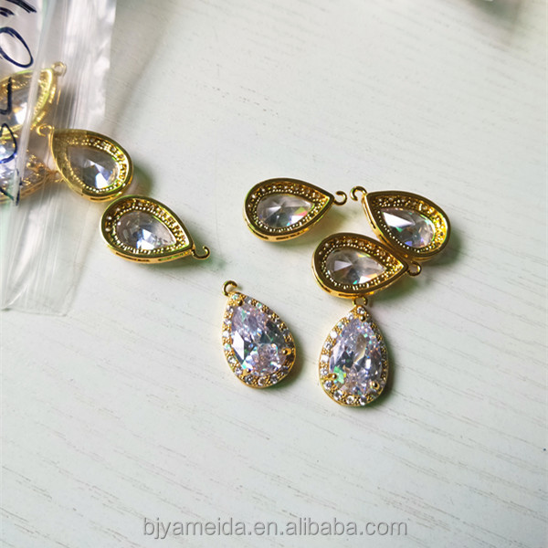 High quality Cubic zirconia components tear Jewelry components