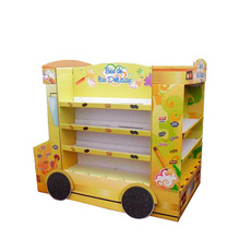 Fashionable Patterns school bus shaped cardboard display pdq packaging box