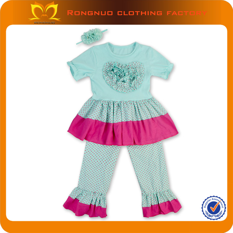 Western girls wholesale boutique clothing,autumn winter infant turkey outfits,girls 2pcs clothing sets