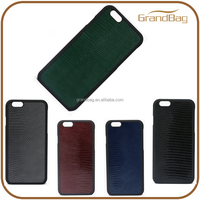 luxury lizard embossed leather phone case cheap cell phone case for iphone 6/6s