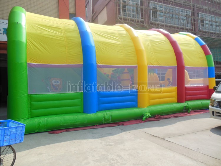 New Design Inflatable Fun City Inflatable jumping castle slide With Tent