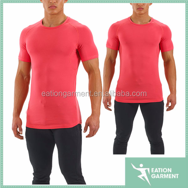 2015 men most selling products fit slim sew less blank dri fit t-shirts wholesale