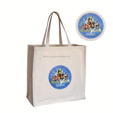 Hot sale blank nonwoven fabric shopping bag with print