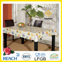 Printed PVC table cover soft tablecloth dining / coffee table cloth