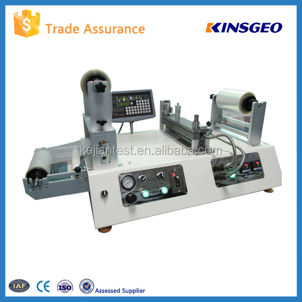 Adhesive Tape Sampling Coater KJ-6018 Hot Melt Fabric Laminating Machine
