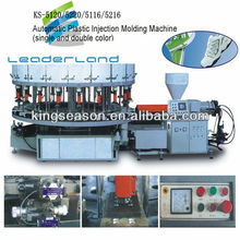 Automatic Rotary Two Color PVC TPR Plastic Shoes Sole Injection Molding Machine