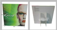 High grade stand up cardboard display poster for eyewear