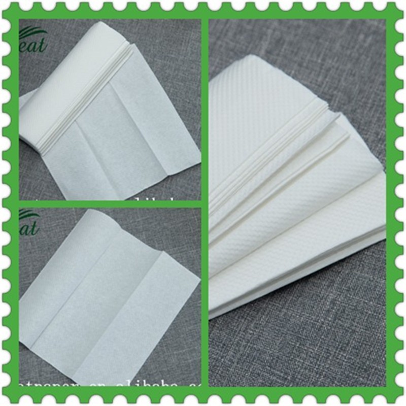 Hand paper towel manufacturing christmas special sell N-fold wholesale soft paper