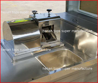 Sugarcane Extruding Food Cart Dealer Sugar Juice Extractor