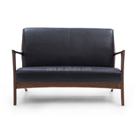 Comfortable French provincial nordic style sofa furniture retro brown modern couch