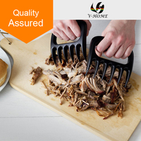 Turn Lift Tong Pork Beef Brisket Poultry from Grill Smoker Oven or Slow Cooker Safely, BBQ Meat Handler Forks