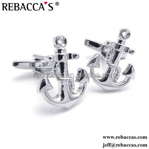 High Quality Square Nautical Anchors Jack Cufflinks