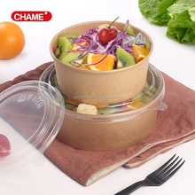 New Design salad bowl disposable customizable paper takeaway food bowl for salad and food