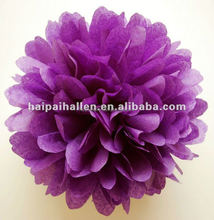 hot selling high quality tissue paper pom poms for wedding decoration