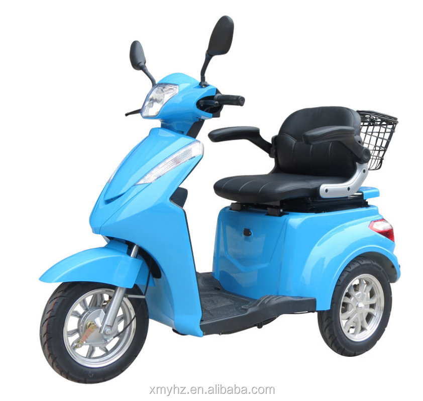 2017 new product quick 3 500w 48v 3 wheel light weight scooter electric