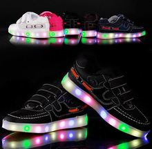 Fashion Children LED light up casual Sneakers USB Charging Luminous led running shoes