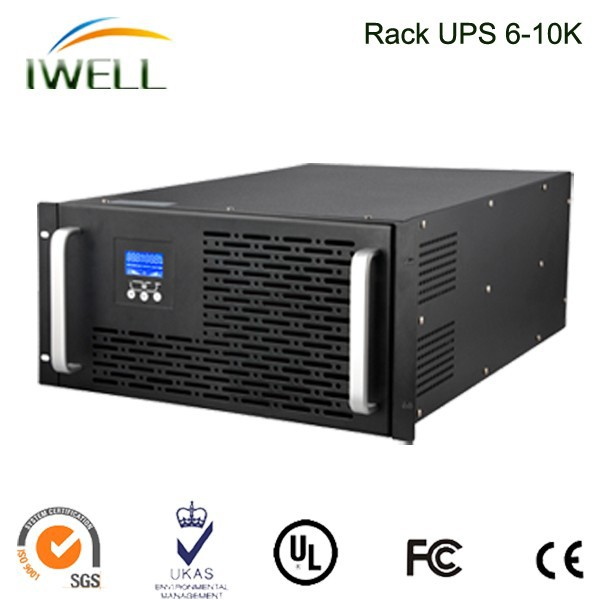 high frequency long backup 6KVA rackmount ups online with external battery