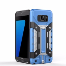New Design Card Holder TPU+PC Shockproof Kickstand Armor Case For Samsung Galaxy Note 5