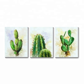 Simple Abstract Print The Cactus Flower Decor Acrylic Canvas Painting