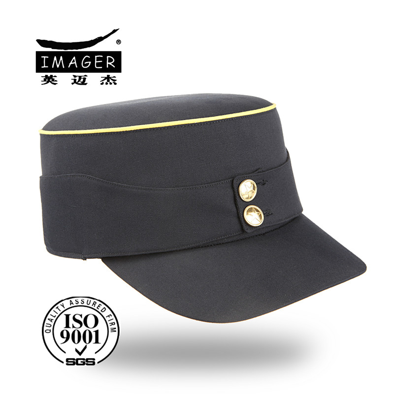Custom army plain mini top hat with button