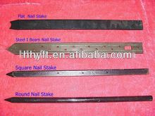 round/square/flat steel nail stake painted
